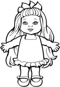 Doll Coloring Pages To Print doll coloring page free printable coloring pages