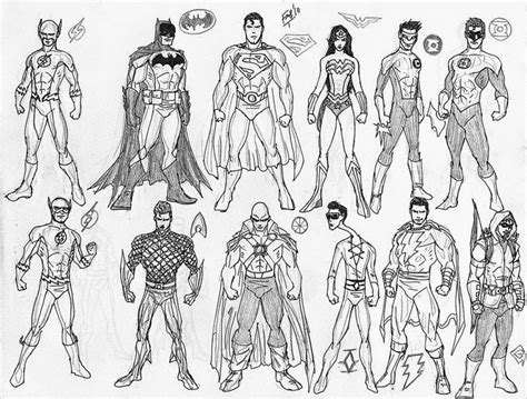 coloring pages of justice league carmiell