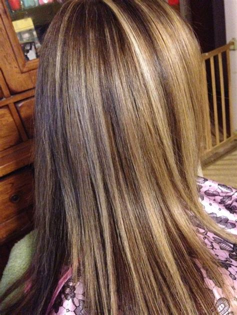 lowlights without foil three color foil hair sara s hair creations pinterest