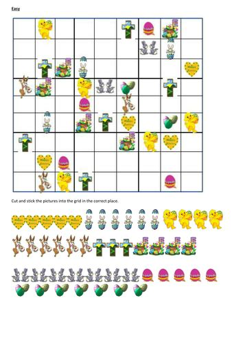 printable sudoku topical easter sudoku by hcamburn teaching resources tes