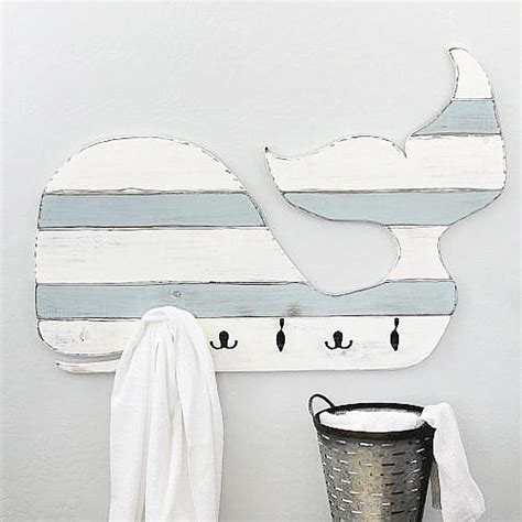 whale themed bathroom decor whale shaped towel rack project by decoart