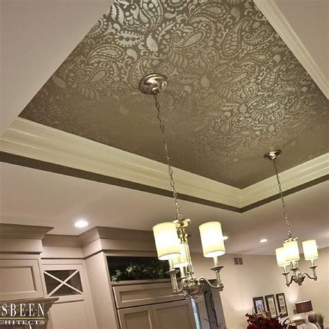 Painted Tray Ceiling Ideas Stylish Stencil Projects Spotted On Instagram Stencil