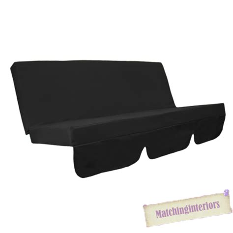 swing bench canopy replacement black water resistant bench cushion for outdoor swing hammock garden seat pad ebay