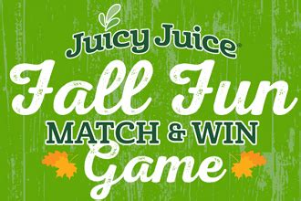 Juicy Juice Instant Win - free juicy juice fall fun match instant win game