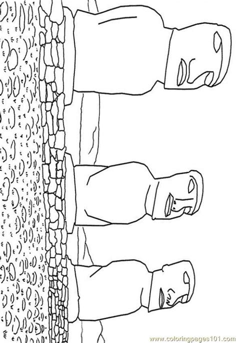 easter island coloring page coloring pages easter island peoples gt others free