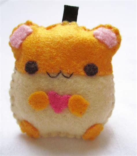 felt hamster pattern kawaii hamster felt plushie my crafts pinterest
