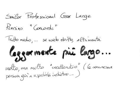 test calligrafia sailor professional gear pennino concorde penciclopedia