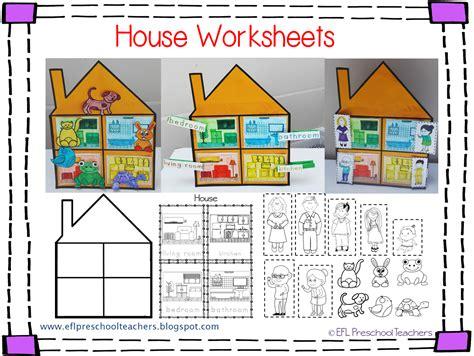 themes for mi home esl efl preschool teachers house worksheets for the