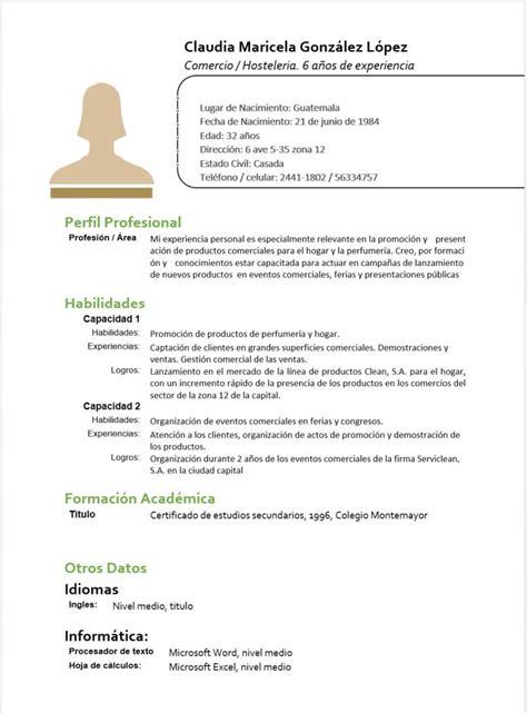 Modelo Curriculum Vitae Funcional C 243 Mo Hacer Un Curr 237 Culum Funcional Perfecto En El 2016