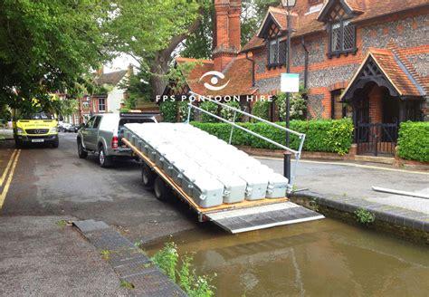 pontoon uk bridge inspection floating platform hire commercial