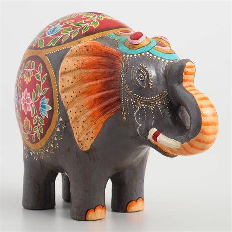 World Market Elephant L gray terracotta elephant bank world market