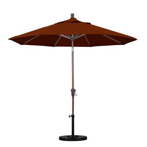 California Patio Umbrellas California Umbrella 9 Ft Fiberglass Push Tilt Patio Umbrella In Brick Polyester Alus908117 P40