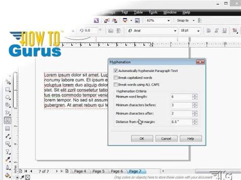 corel draw x6 text effects how to use text hyphenation in coreldraw 2017 x8 x7 x6 a