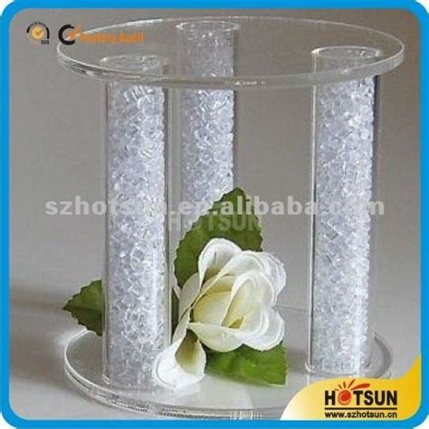 Wedding Bouquet Display Stand by Customized High Quality Assembled Acrylic Plexiglass Cake