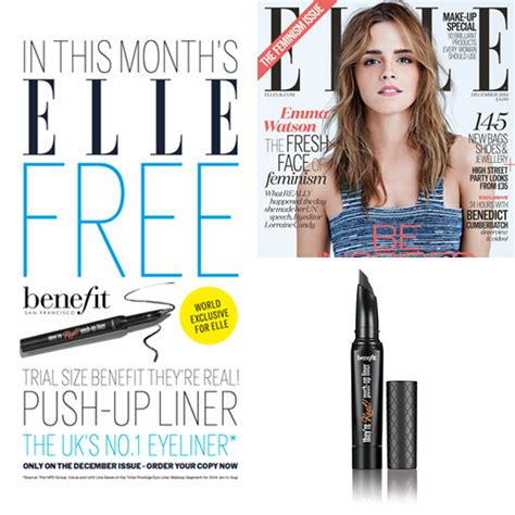 real beauty elle fashion magazine beauty tips opojal elle mag december issue with free benefit they re real