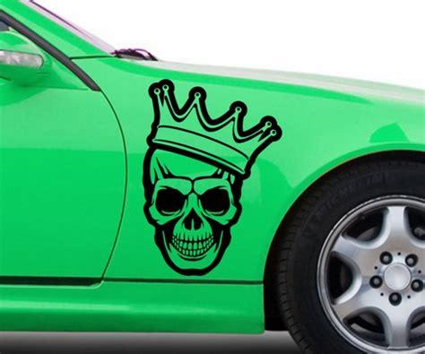 3d Aufkleber Krone by Autoaufkleber Sch 228 Mit Krone Skull Sticker