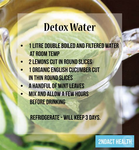 Detox Water Facts by Nutrition Detox Water Recipe 2ndact Health Testing
