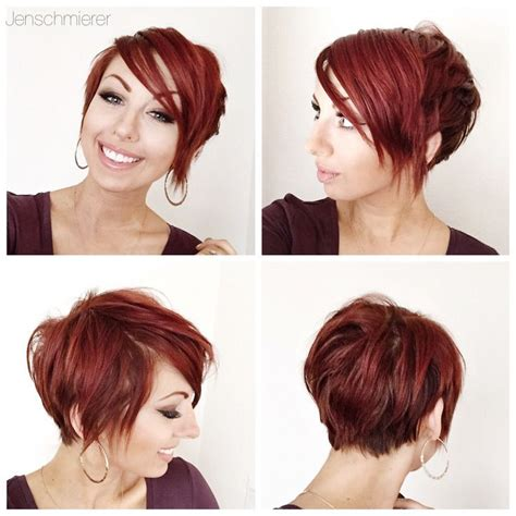 360 short haircuts for women turning 40 red pixie 360 hair and beauty pinterest red pixie