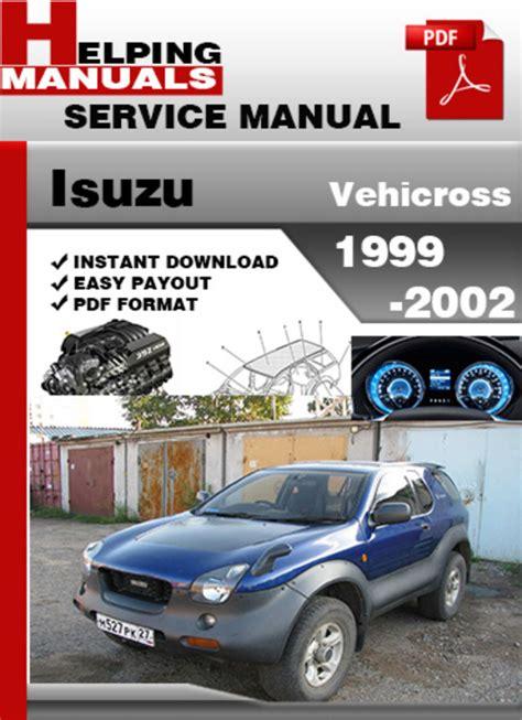 car repair manual download 2001 isuzu vehicross regenerative braking isuzu vehicross 1999 2002 service repair manual download download