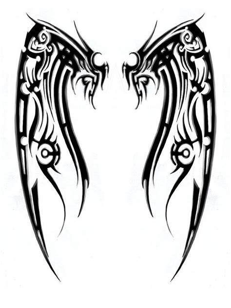 angel wing tribal tattoos tribal wings style a4 tshirt transfer wing ebay