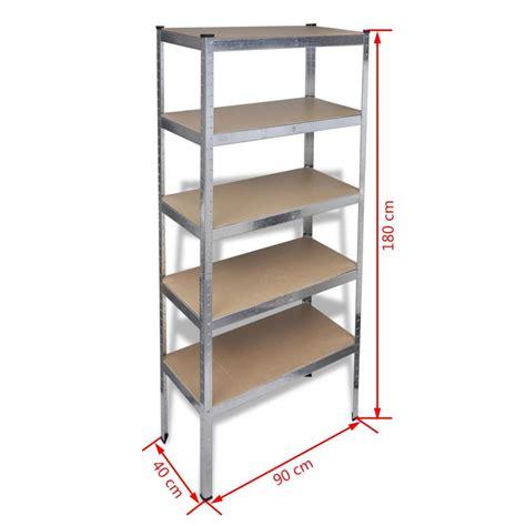 mensole per garage articoli per scaffale a 5 mensole 180cm per garage e