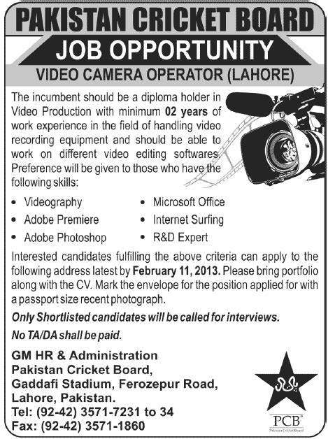 pcb design jobs for diploma pcb jobs for video camera operator in lahore jang on 27