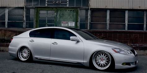 stanced lexus gs300 stanced lexus gs shows off on justice soundtrack