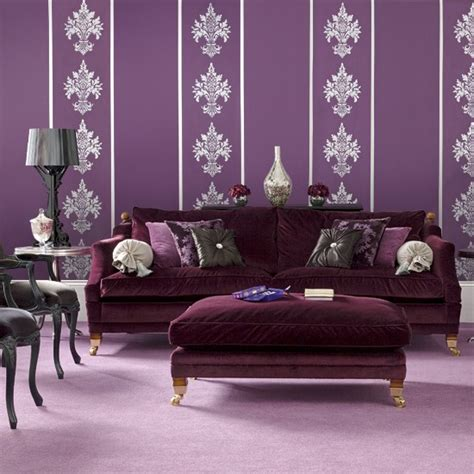 purple sofas living rooms bold purple living room modern living room designs
