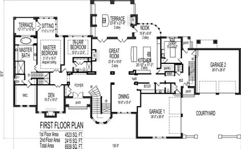 residential blueprints amazing mansion house floor plans blueprints 6 bedroom 2
