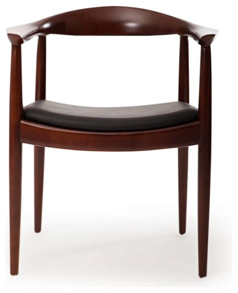 kardiel presidential dining chair black italian leather