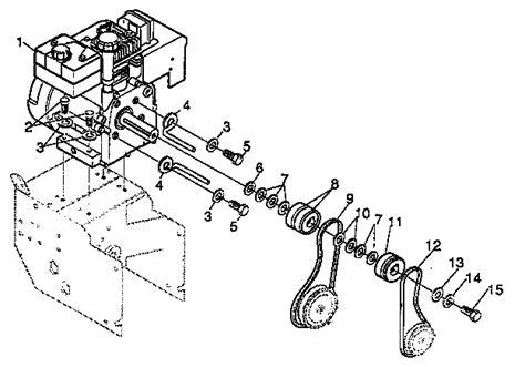 noma snowblower parts diagram engine components diagram parts list for model d2450 010