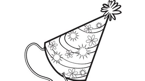 coloring pages of birthday hats party hat grandparents com