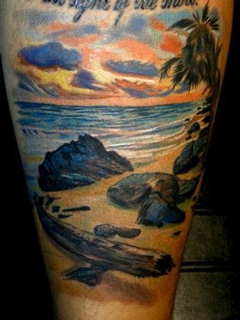 beach scene tattoo 26 best images about tattoos on sunsets