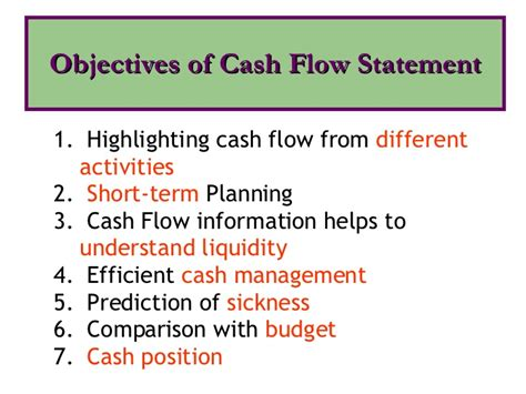 objectives of fund flow statement flow statement