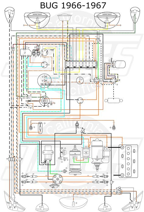 wiring 1967 vw type 1 wiring diagram