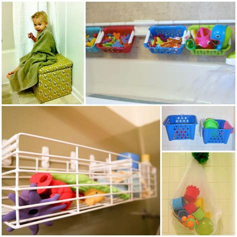 bathtub toy storage bathroom toys storage diy storage ideas for small spaces craftriver great idea for