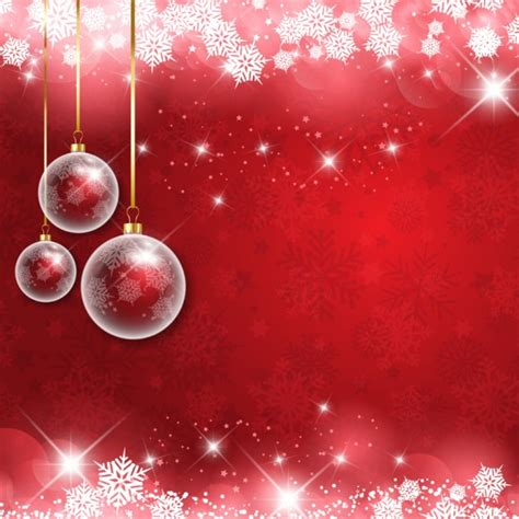 shiny christmas background with baubles free vectors
