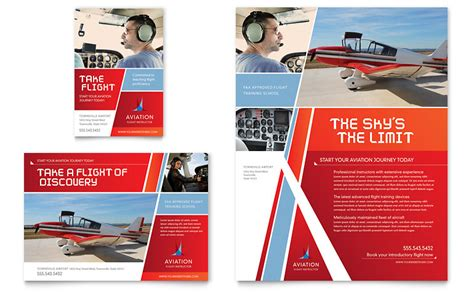 Aviation Flight Instructor Flyer Ad Template Word Publisher Advertisement Design Templates
