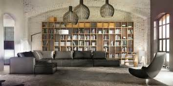Rustic Bookcase 25 Phenomenal Industrial Style Living Room Designs With