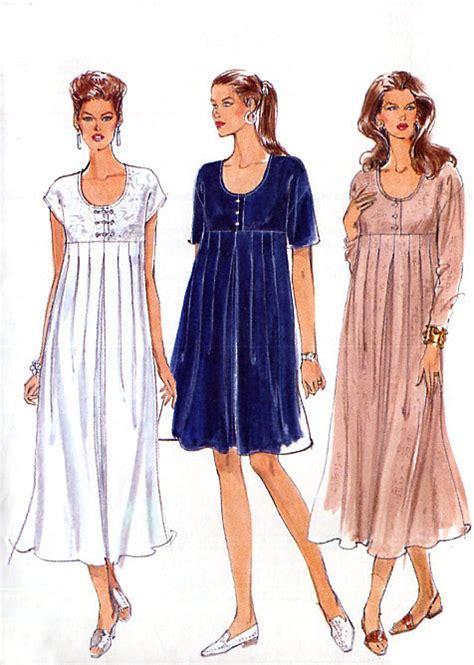 dress pattern empire empire waist maternity dress pattern vogue 9265 a line or