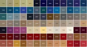 color chip federal standard color chart car interior design