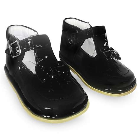 black shoes fofito black patent leather t bar shoes