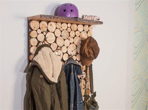 garderoben selber bauen garderobe in holzstapeloptik selber bauen