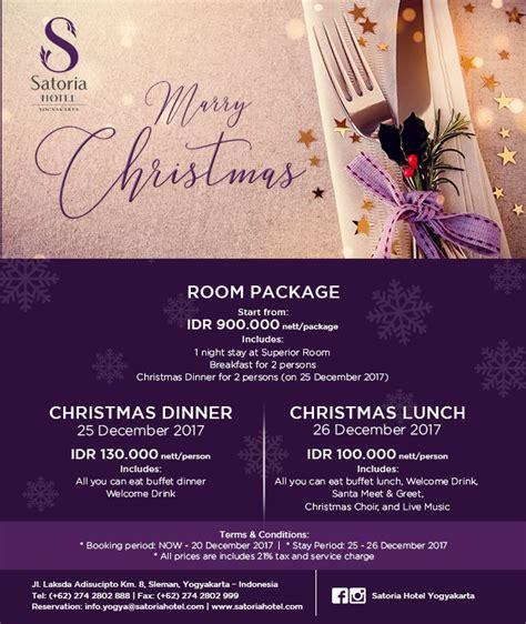 Promo Natal Tahun Baru 5 nikmati promo natal dan tahun baru di satoria hotel