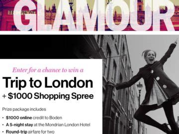 Glamour Sweepstakes - glamour london fashion sweepstakes