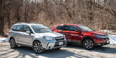 subaru honda suv comparison 2017 subaru forester xt vs honda cr v