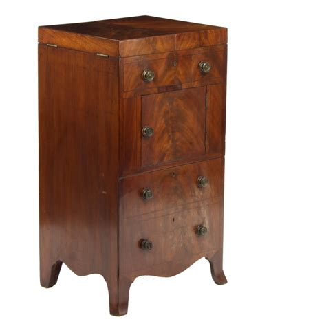 Antique Commode Cabinet by Original Georgian Antique Mahogany Commode Washstand