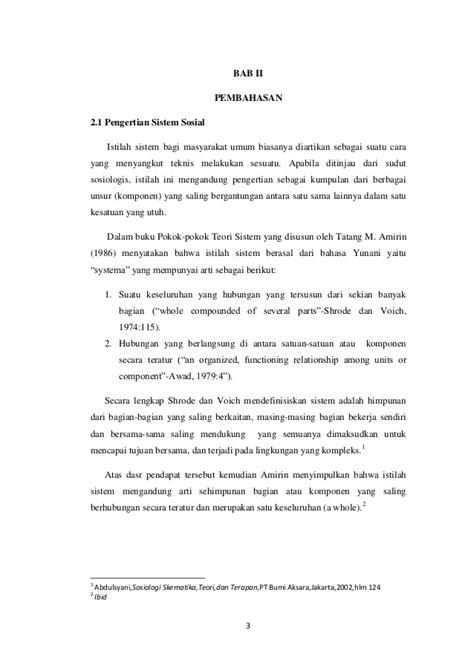 Pokok Pokok Teori Sistem Tatang M Amirin sistem sosial