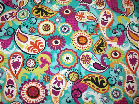 print fabric retro paisley print fabric by the yard quilting designer