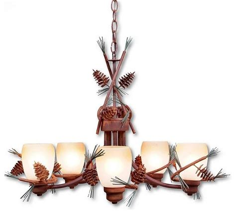 Pine Cone Chandelier Pine Cone Chandelier Large Eclectic Chandeliers By Lodgelighting